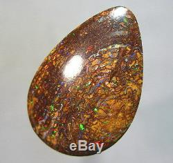 Electric Red & Green Natural Australian 24ct Solid Yowah Boulder Opal Video