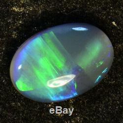Fiery Bright Greens Solid Lightning Ridge Australian Black Opal 13747