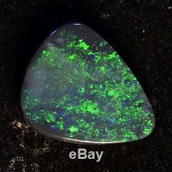 Fiery Greens Genuine Solid Australian Lightning Ridge Black Opal Stone 12863