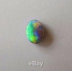 Genuine Australian Solid Black Opal Green Loose Stone 0.35ct 5x4