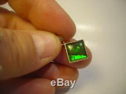 Incredibly Rare Solid 14 Ct Solid Gold Pendent-black & Green Opal! Ridge Back