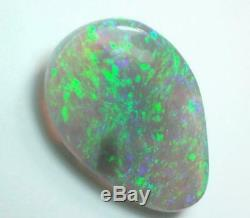 LIGHTNING RIDGE AUSTRALIAN NATURAL SOLID Gem Stone OPAL 1.70 cts +Vid