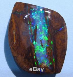 Large Australian Queensland Boulder Solid Opal Brilliant blues and greens 70ct