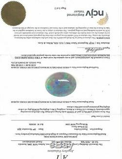 Loose Solid Black Opal 5.36 Carat Displaying Prominent Green And Blue Colours