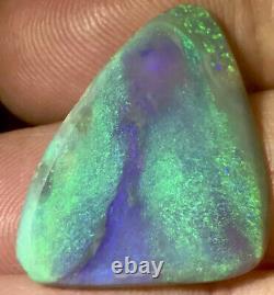 Make Offer! Very Nice Green Purple 16ct Solid Lightning Ridge Dark Crystal Opal
