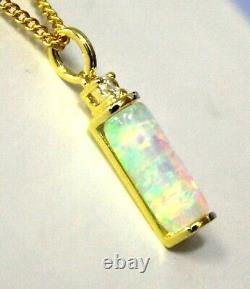 Mother's Day Solid Natural Fire Opal Necklace Women Jewellery Sterling Sivler