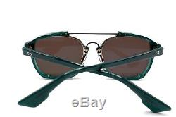 NEW CHRISTIAN DIOR ABSTRACT CJH OPAL GREEN BLUE MIRRORED SUNGLASSES WithCASE #15