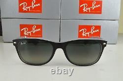 NEW Ray-Ban Wayfarer RB2132 630971 Matte Black on Opal Ice Gray Gradient 55mm
