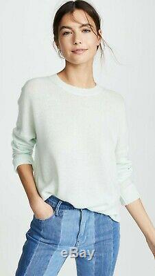 NWT Theory Karenia Cashmere Sweater, Opal Green Size L $285