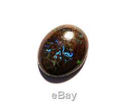 Natural Australian Boulder Opal Solid Loose Cut Stone greens / blues (2340)