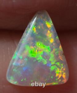 Natural Australian Coober Pedy Crystal Solid Opal 8.5x7x1.7 mm 0.63 ct
