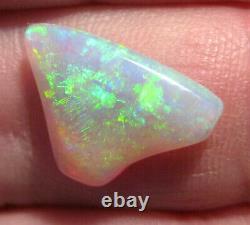 Natural Australian Crystal Opal Solid Loose Cut Stone Bright blues greens (1805)