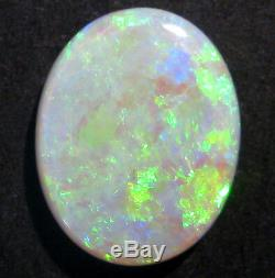 Natural Australian Lightning Ridge Crystal Opal Solid Cut Stone 15x12mm (2035)