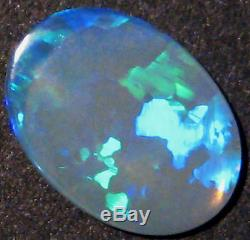 Natural Australian Lightning Ridge Opal Solid Cut Stone translucent 14x10mm 688