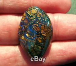 Natural Australian Queensland Boulder Opal Solid Cut Stone 29x19x5mm (1945)