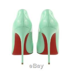 New CHRISTIAN LOUBOUTIN So Kate 125mm Opal Mint Green Patent Leather Shoes 39