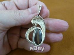 O-172 BLUE GREEN OPAL Solid stone Sterling silver PENDANT Jewelry opals Yowah AU