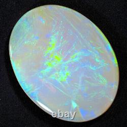 OUTSTANDING 7.32ct GREEN BLUE 20x15mm SOLID SEMI CRYSTAL OPAL LIGHTNING RIDGE