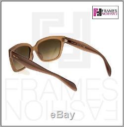 PRADA POEME Square PR07PSA Opal Brown Olive Gradient Sunglasses 07P WOMEN