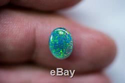 Rare loose Black opal solid Lightning Ridge gem 1.84ct Australian Opal BAA090719