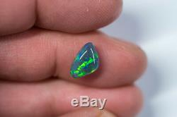 Rare loose Black opal solid Lightning Ridge gem 2.24ct Australian Opal BC171018
