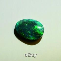 Solid 6.90 Queensland Australian Black Opal 12.13 x 6.76 x 3.5mm