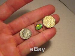 Solid Australian Gem Opal Ring Sterling Silver SIZE 9 1/2