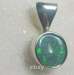Solid Black Opal Pendant