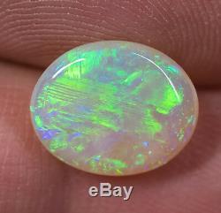 Solid Natural Australian Light Opal 4.11ct Lightning Ridge gem LOB171018
