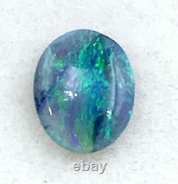 Solid Natural Black Crystal OPAL 0.70ct Australian Lightning Ridge Opal