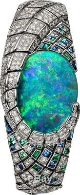 Solid Opal Green Baguette Round Cocktail Party Bracelet 925 sterling silver Cz