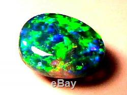Top Quality Outstanding Bright Nice Rare Colour Pattern Solid Black Opal 3carat