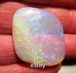 Translucent Australian Coober Pedy Crystal Opal Solid Blue green gold (1723)