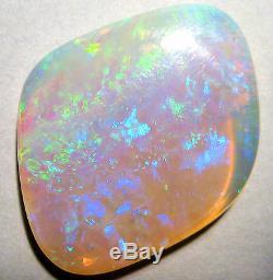 Translucent Australian Coober Pedy Crystal Opal Solid Cut Stone 31x25mm (1723)