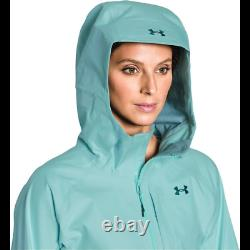Under Armour Women's UA Chugach GORE-TEX Ski Jacket Aqua Falls/Opal Green XLNWT