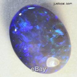 Wonderful Blues & Greens Natural Solid Australian Black Opal 14104