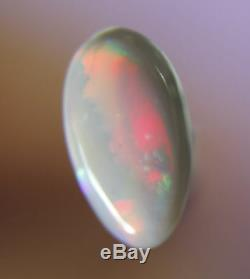 0.5ct Splendide Rouge Vert Véritable Lightning Ridge Semi Solide Noir Opal Gem A49