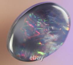 0.5ctred Vert Bleu Flashy Authentique Lightning Ridge Solid Black Opal Gemaob1391