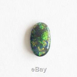 0.60ct Opale Noire 8 X 5 Opale Naturelle Solide De Lightning Ridge Australie