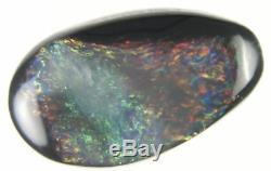 0.6ct Wow Superb Rouge Vert Véritable Lightning Ridge Solid Black Opal Gema245