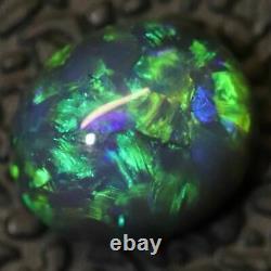 0.74 Cts Australian Black Opal Lightning Ridge, Solid Gem Stone, Cabochon