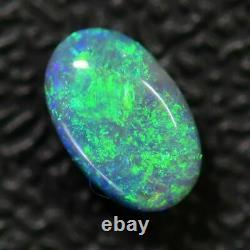 0.76 Cts Pierre Solide Opale Noire Australienne, Crête De Foudre