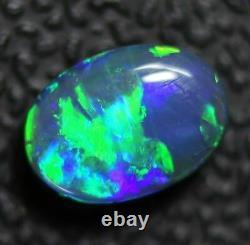 0.80 Cts Australien Solide Opal Noir, Pierre Gemme Solide, Lightning Ridge