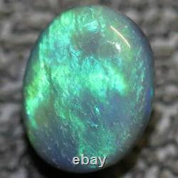 0.88 Cts Australien Semi Noir Opal Solid Lightning Ridge Cabochon Loose Stone