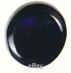 0.8ct Bleu Vert Vert Rouge Flashy Véritable Lightning Ridge Solide Noir Opale Gem A213