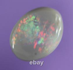 0.8ct Red, Green, Genue Bleue Lightning Ridge Solide Semi Black Opal Aob1470
