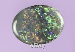 0.8ct Rouge Bleu Vert Superbe Lightning Ridge Semi Solide Noir Opal Gem A427