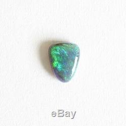 0.91ct Opale Noire 7,8 X 6 Pierre Lâche Massif Naturel Lightning Ridge Australie