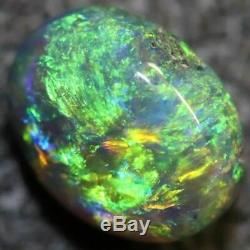 0,95 Cts Australian Black Opal Lightning Ridge, Gem Solide Pierre, Cabochons