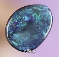 1,2 Ct Bleu Étincelant Véritable Vert Véritable Gant Opale Noir Opale A376